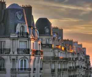paris, sunset, and building image