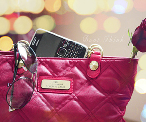 bag, pink, and rose image