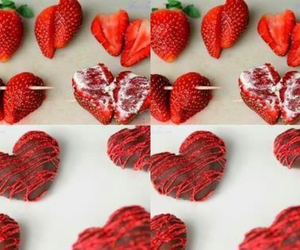 strawberry, chocolate, and diy image