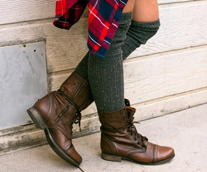 girl, boots, and fall image