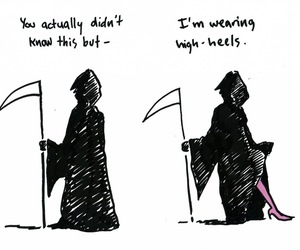 funny, death, and high heels image