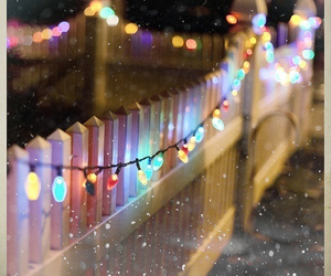 christmas, light, and snow image