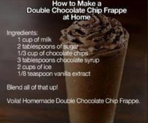 chocolate, frappe, and diy image
