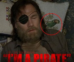 pirate, the walking dead, and the governor image
