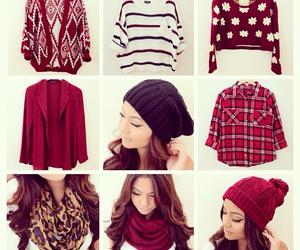 sweater, red, and cute image