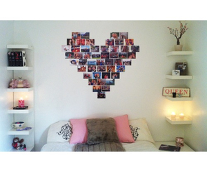 room, heart, and bedroom image
