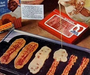 bacon, pancakes, and food image