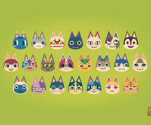 animal crossing, cats, and illustration image
