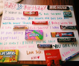 birthday, candy, and boyfriend image