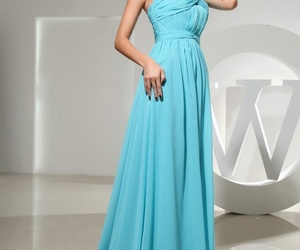 blue, style, and formal gown image
