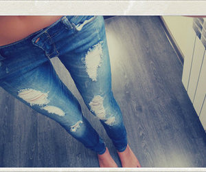jeans, girl, and legs image