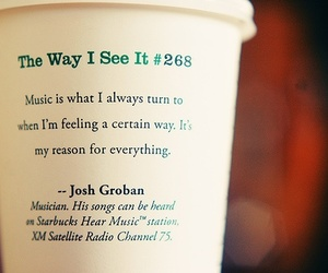 quote, music, and starbucks image