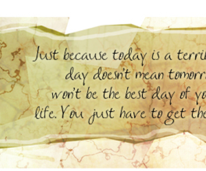 just because, tomorrow, and today image