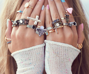 girl, rings, and cute rings image