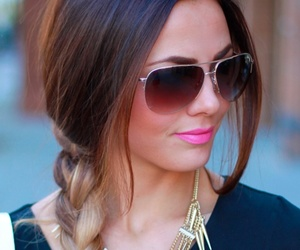 hair, sunglasses, and braid image