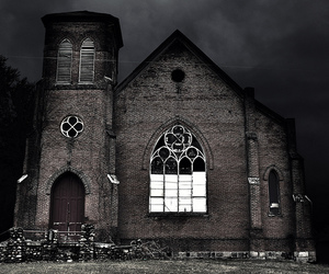 abandoned, church, and haunted image