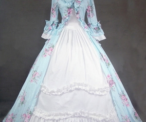 victorian ball gowns, floral victorian dress, and classic victorian dress image