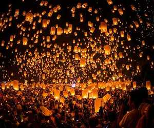 festival, loi, and krathong image