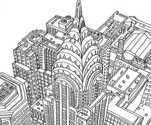 illustration, drawing, and new york image