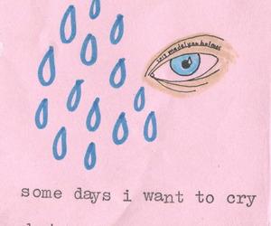 cry, sad, and pink image