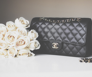 chanel, bag, and rose image