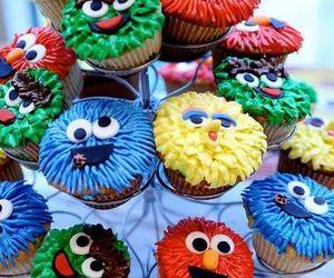 creative, cupcake, and sesamestreet image