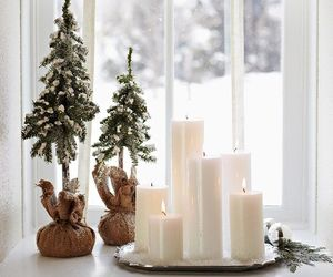 christmas, candle, and snow image