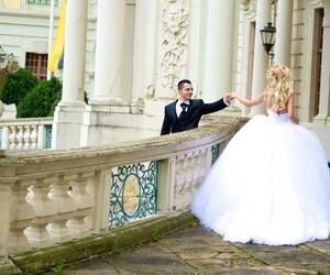 ball gown, castle, and fabulous image