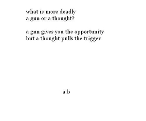 thought, gun, and poem image