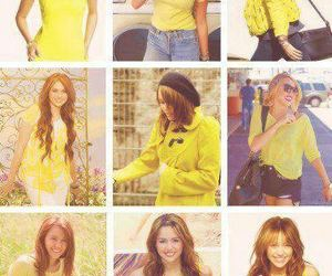 lovely, miley cyrus, and yellow image