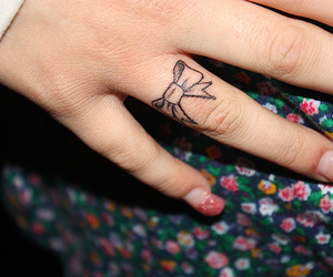 tattoo, bow, and nails image