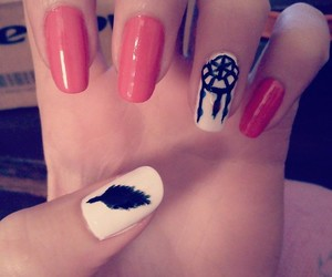 cool, dreamcatcher, and nail swag image