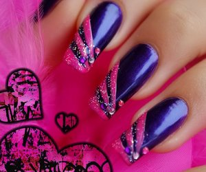 design, pink, and nails image