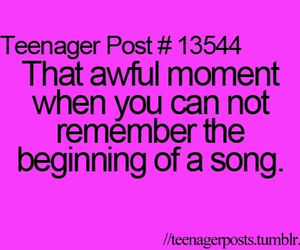 teenager post, song, and text image