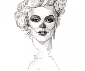 drawing, marilyn, and monroe image