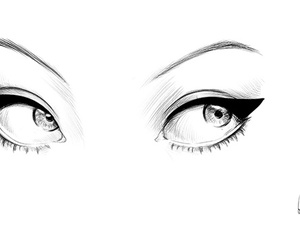 eyes, drawing, and illustration image
