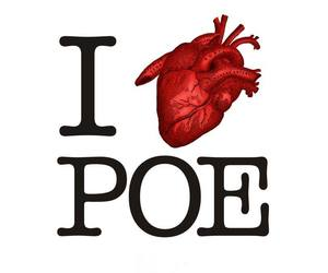 edgar allan poe, horror, and love image