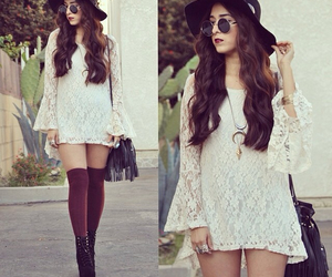 dress, lace, and style image