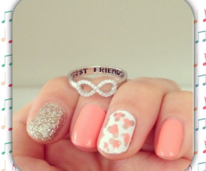 nails, pink, and infinity image