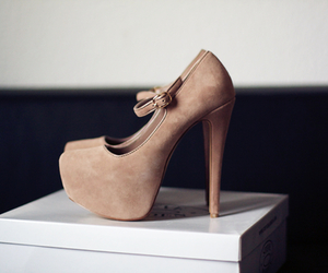brown, heel, and high image