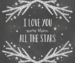 love, stars, and quote image