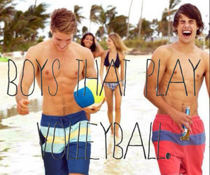 boy, volleyball, and beach image