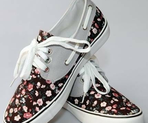 flowers, shoes, and vans image