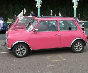 pink and car image