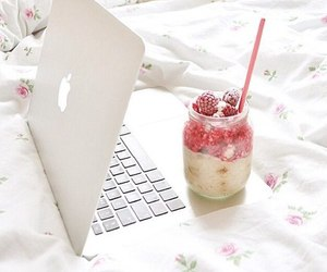 apple, laptop, and drink image
