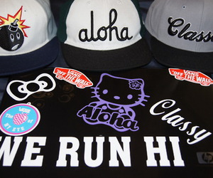 Aloha, hello kitty, and vans image
