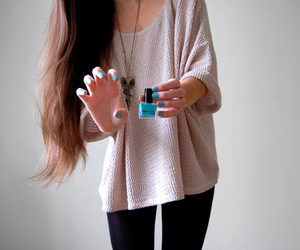 casual, cool, and nails image