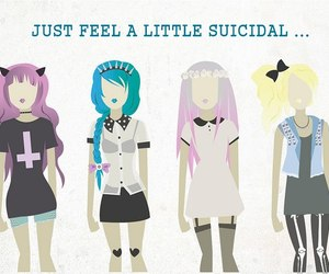 girls, suicidal, and pastel goth image