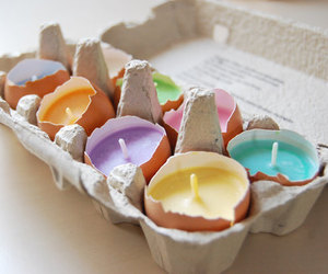 candle, diy, and eggs image