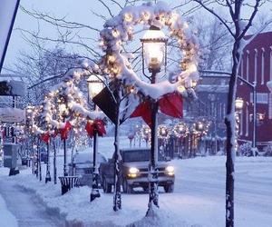 snow, christmas, and winter image